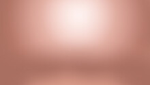 Rose Gold Bronze Metal Abstract Defocused Background, Copper Colored Metallic Surface Luminous Blurred Color Background, Light Pink And White Spotlight Empty Blank Backdrop With Copy Space