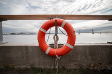 Life Buoy On The Pier