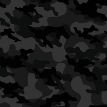 Dark Military Camouflage Vector Seamless Print
