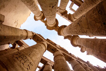Main Hall Of The Karnak Temple With Majestic Columns, Luxor