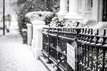 Notting Hill Under The Snow Storm In 2021 In London, England