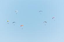 Paragliders Over The Mountains, Parque Natural Da Arrábida, Setúbal, Portugal