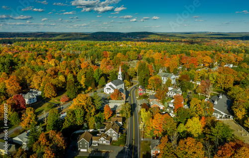 Photo Autumn in New England (Pepperell, MA)
