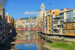 view over the city of Girona, Catalonia, Spain