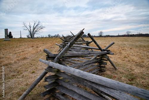 Obraz na plátně A view of the American Civil War battlefield in Gettysburg,