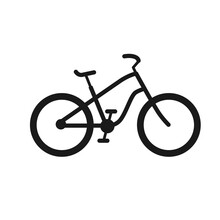 Bicycle Icon Vector Design Template. Bicycle Outline Icon
