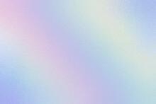 Hologram Texture. Iridescent Gradient. Holographic Bright Effect. Pastel Color. Rainbow Colorful Foil. Ombre Background. Modern Neon Design. Holo Surface. Pearlescent Vibrant Metal Print. Vector