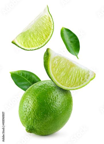 Fotografia, Obraz Lime fruit isolate