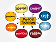 Medical Tourism mind map, health concept for presentations and reports