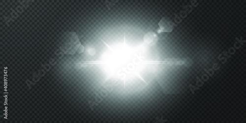 Fotografija Abstract transparent sun light special lens flare light effect