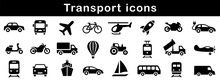 Transport Icon. Transportation Icons Set Vector