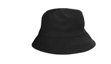 Black Bucket Hat On A White Background