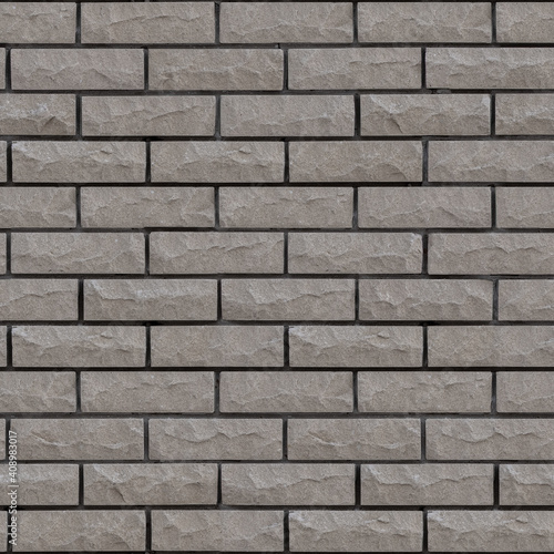 Canvas-taulu Seamless texture with gnawed and chipped surfaces Brick