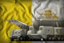 Holy See Rocket Troops Concept On The National Flag Background. 3d Illustration