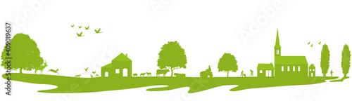 Frise-à la campagne-vert © lil_22