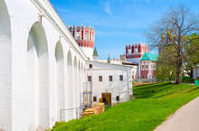 The Beautiful  Medieval Novodevichy Convent In Moscow, Russia