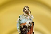 Saint Joseph And Child Jesus Catholic Image