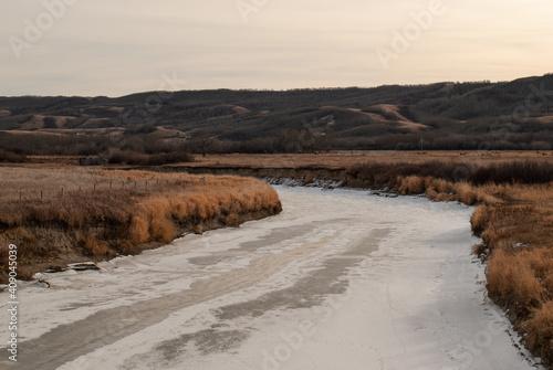 Fototapety, obrazy: river in winter