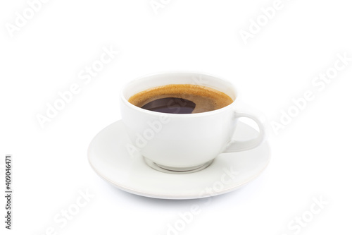 Fotografia coffee cup isolated on white background