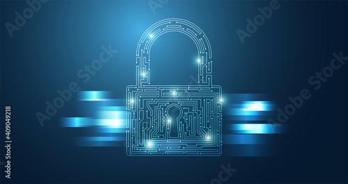 Fotografía icona, lucchetto, sicurezza, dati, informatica