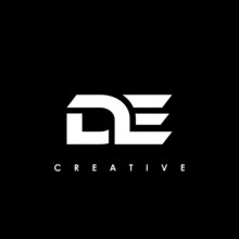 DE Letter Initial Logo Design Template Vector Illustration