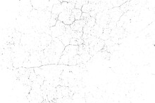 Natural Cracks Background. Vector Overlay Texture Of Cracked Surface. One Color Graphic Resource.