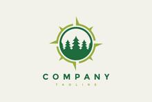Fir Tree And Compass Logo