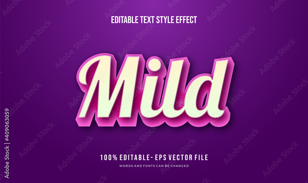 Fototapeta Modern editable text style effect. Editable font style. Vector Illustration