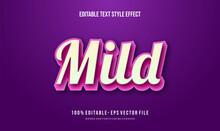 Modern Editable Text Style Effect. Editable Font Style. Vector Illustration