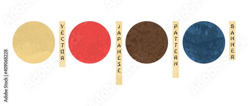 Obraz na plátně Japanese artistic templates with geometric elements vector set