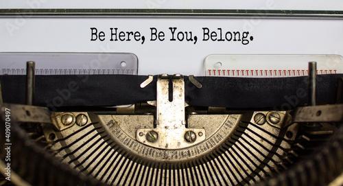 Fotografie, Obraz Inclusion and belonging symbol