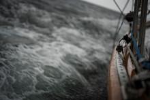 Sailing Overboard In The Ocean Gloomy