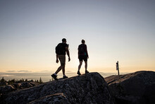 Couple Reaches Summit Of Moxie Mountain, Appalachian Trail, Maine