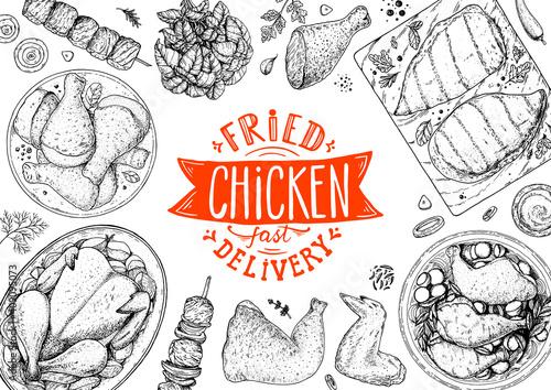 Obraz na plátně Chicken meat