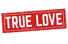 True Love Grunge Rubber Stamp
