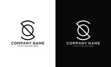 Alphabet Letter Icon Logo OS Or SO