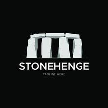 Stonehenge, Stack Of Stones Landscape View Logo Design