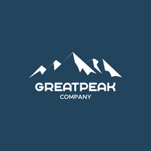 Great Peak. Simple Vintage Mountain Logo Design For Company