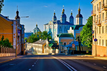 Street View Of Holy Assumption Cathedral In Smolensk, Russia