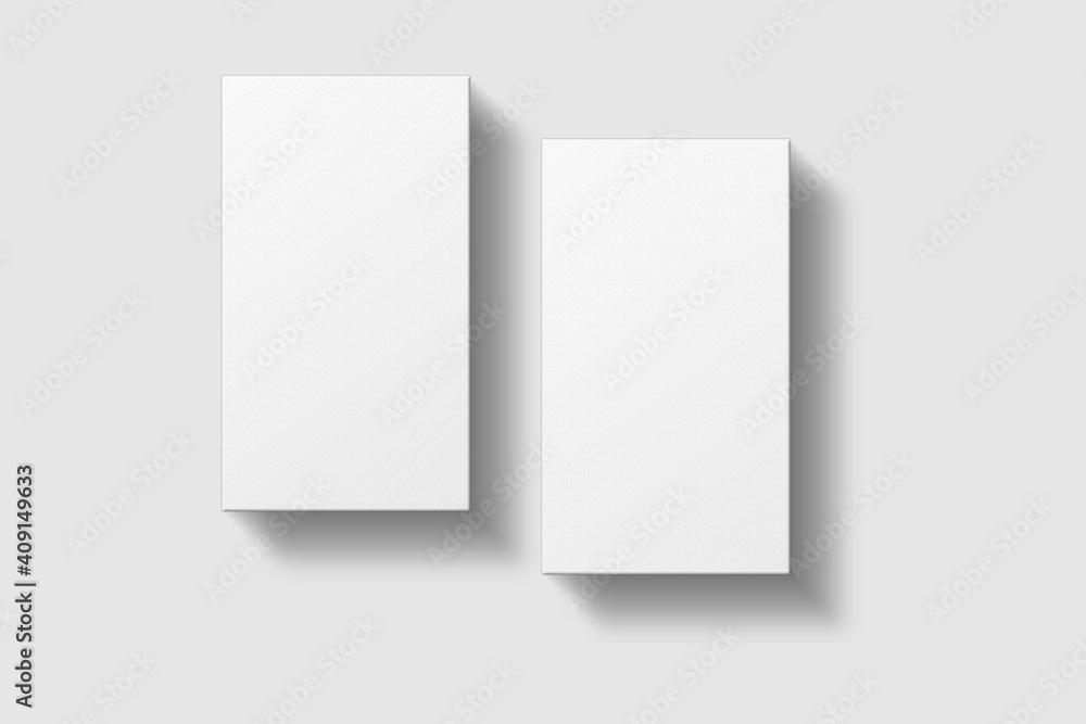 Fototapeta Realistic blank vertical business card illustration for mockup