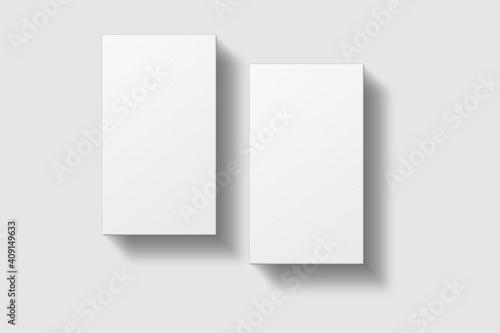 Obraz Realistic blank vertical business card illustration for mockup - fototapety do salonu