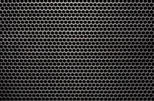 Gray Punched Aluminum Plate Background