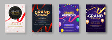 Grand Opening Ceremony Invitation Or Flyer Design In Four Color Options.
