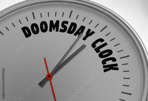 Fotografia doomsday clock 100 seconds to twelve