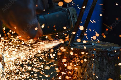 Obraz na plátně joining metals by electric arc welding