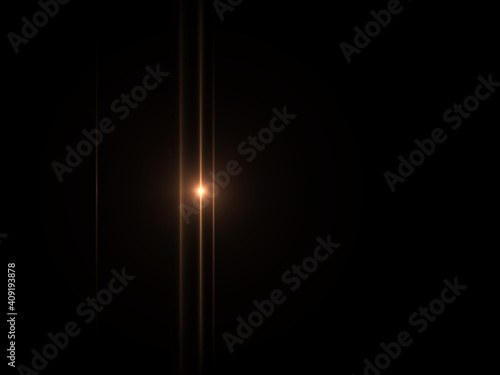 Obraz Anamorphic lens flare - fototapety do salonu