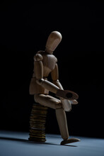 Conceptual Image Of A Wooden Mannequin