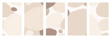 Abstract Organic Shapes Stories Templates Set