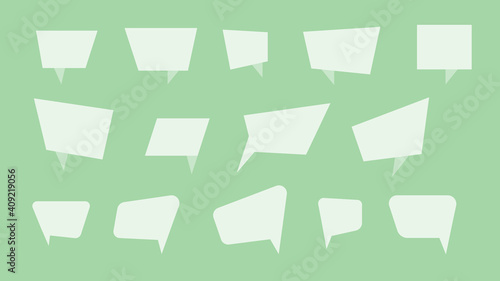 Obraz Vector Perfect Paper Style Speech Bubbles. Blank Isolated Paper Stickers - fototapety do salonu