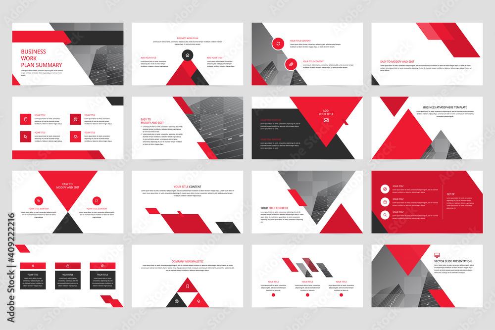 Fototapeta Company minimalistic vector slide presentation